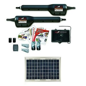 Mighty Mule Mm262 10 Watt Solar Package Light Duty Dual Gate Opener