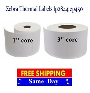 4x6 Direct Thermal Shipping barcode Labels For Zebra Eltron 2844 Zp450 1 3 core