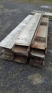 12 X 10 Ft Steel Metal Cement Concrete Base Line Forms 21 Pieces Flatwork Curb