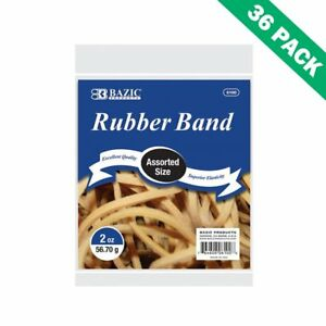 Rubber Bands Assorted Strong Elastic Bazic Rubber Bands Sizes Case Of 36