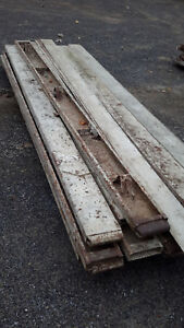 7 X 10 Ft Steel Metal Cement Concrete Slim Line Forms 21 Pieces Flatwork Curb