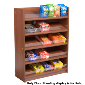 Retail Cherry Finished Five Shelf Floor Standing Display 36 W X 14 D X 48 h