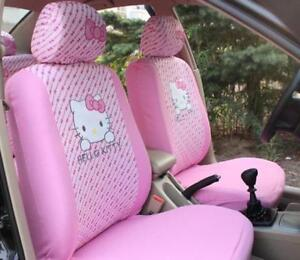 10pcs Cartoon Hello Kitty Universal Car Seat Covers Accessories Car Styling Seat