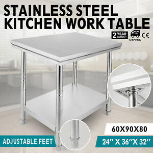 24 x36 Stainless Steel Kitchen Work Prep Table Nsf Commercial Restaurant New