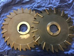 Lot Of Two Large Dia Milling Cutters 8 X 3 8 X 2 Hole