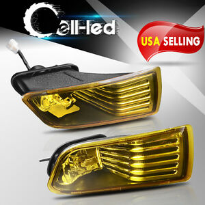 For 2005 2010 Scion Tc Yellow Fog Lights Front Bumper Lamps Switch Wiring Pair
