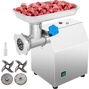 Electric Meat Grinder Stainless Steel Sausage Kubbe Attachment W 2 Blade 850w