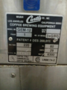 Curtis Satellite Coffee Brewer