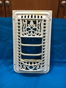 Antique Vintage Cast Iron Enamel Coated Door Cover