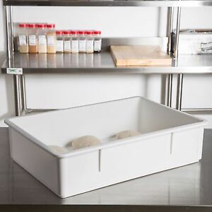 18 X 26 X 6 Dough Pizza Proofing Box Stackable White Dishwasher Safe W Lid