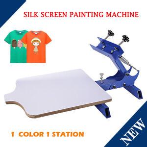 Diy 1 Color 1 Station Silk Screen Printing Machine Press Equipment T shirt
