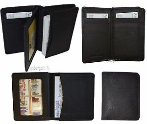 Lot Of 2 Business Card Case Up To 50 Cards Id Card Natural Grain Leather