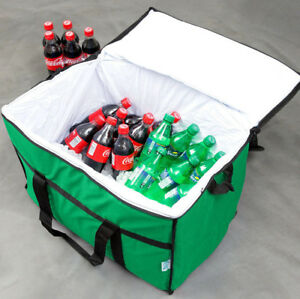 Insulated Green Nylon Hot Cold Catering Delivery Food Carrier Bag Drink Cooler