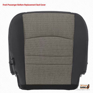 2009 2010 2011 2012 Dodge Ram 3500 Slt Passenger Bottom Cloth Seat Cover Gray
