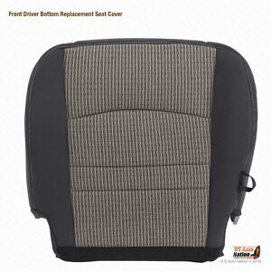 2011 2012 Dodge Ram 1500 Slt Driver Bottom Replacement Seat Cover Cloth Gray