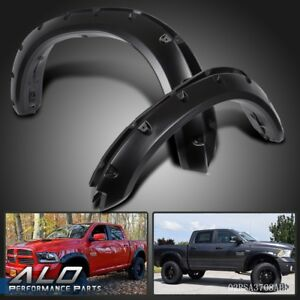 Fender Flares Pocket River Bolt For Dodge Ram 1500 2009 2018 Smooth Black Pp