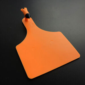 50 Pcs Orange Plastic One piece Ear Tag For Cattle Cow Horse Sheep Livestock
