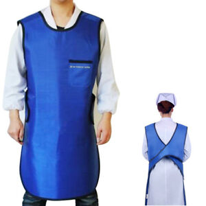 Dental X ray Protection Apron 0 35mm Pb Lead Vest Cover Shield L Size Blue