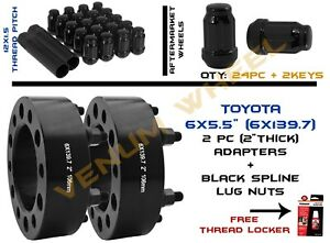 Pair Of Toyota Tacoma 2001 2018 2 Hubcentric Wheel Spacers 6x139 7mm Lug Nuts