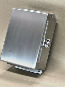 8 X 6 X 3 5 Industrial Jic Wall Mount Enclosure Nema 4x 304 Stainless Steel