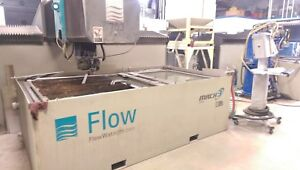Used Cnc Flow Mach 3 2513b Waterjet Cutting Machine Machining 50hp 60 000 Psi