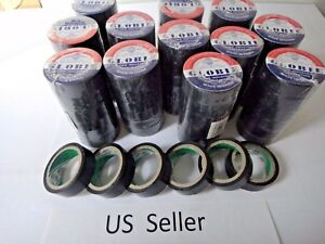 12 Rolls 30 Ft General 0 7 Inch Vinyl Pvc Black Insulated Electrical Tape Usa