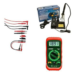 Multimeter Kit W Soldering Iron And Electronic Test Lead Kit