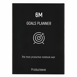 6m Goals Planner Beautiful Undated Agenda Daily And Weekly Journal To Goals