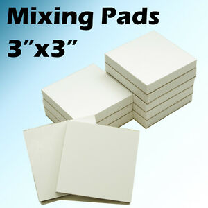 2000 Sheets 3 x3 Mixing Pads Pad Dental Disposable Poly 20 Pads