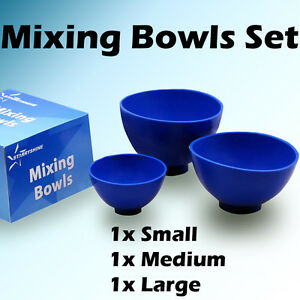 3 Pc Flexible Mixing Bowl Bowls Dental Lab Impression Small Medium Large Set