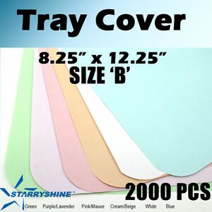 2000 Pc Dental Blue Tray Cover Paper Size B 8 25 X 12 25 Tattoo Medical