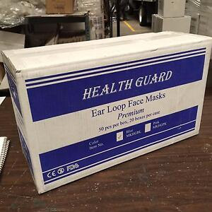 2000 Masks 40 Bx Blue Surgical Disposable 3 ply Earloop Face Masks Latex Free