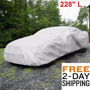 Full Car Cover 228 Universal Auto Waterproof Rain Snow Dust Out Door Resistant