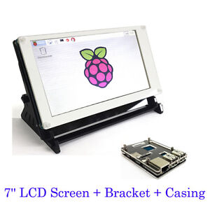 7 Inch Lcd Touch Screen Display For Raspberry Pi B 2b 3b With Bracket Case