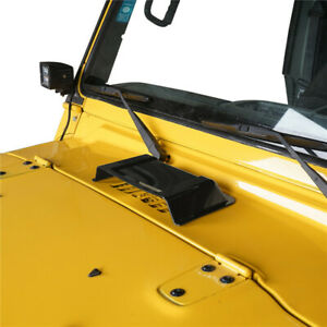 Black Abs Air Intake Hood Vent Scoop Cover Trim For Jeep Wrangler Jk Tj 97 17