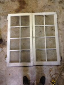 Vintage 1890 S Pine Glass Pantry Doors With Latch Hinge