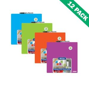 Magnetic Dry Erase Board Colored Wall Mounted Dry Erase Bulletin Board 12units