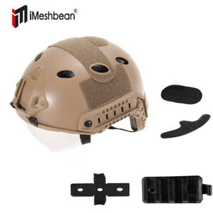 Sports Military Tactical Airsoft Paintball SWAT Protective Fast Helmet W Goggle