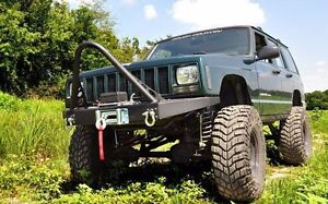 Rough Country Jeep Xj Front Subby Winch Bumper W D Ring Kit Stinger Bar
