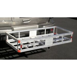 500 Lb Aluminum Cargo Carrier Hitch Receiver Mount Luggage Large Loads