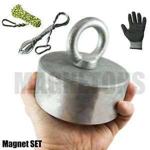 Neodymium Magnet Metal Detector Recovery Treasure Finder Fishing Rope Set