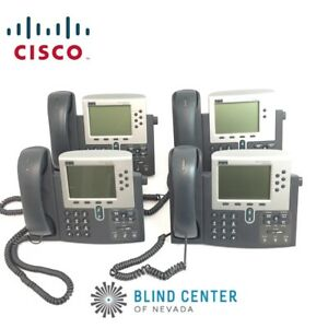 lot Of 4 Cisco Cp 7960g 7940g Voip Business Ip Phone Unified Poe