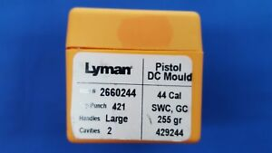 LYMAN Pistol DC Mould Double Cavity 44 Cal Bullet # 429244 SWC GC - NEW
