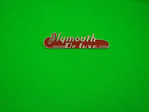 1938 39 Nos Plymouth Deluxe Emblem