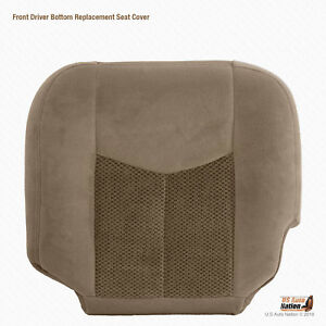 2003 2004 Chevy Tahoe Ls Lt Z71 Driver Bottom Reaplacement Seat Cover Cloth Tan