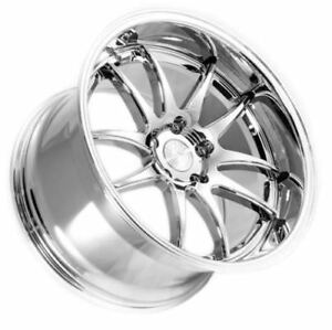 18x9 5 Aodhan Ds02 5x100 35 Vacuum Chrome Rim Aggressive For Corolla Celica Wrx