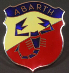 Fiat 500 600 850 124 Abarth 70 Mm Emblem New