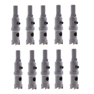 10x Carbide Tip Metal Cutter Stainless Steel Drill Bit Hole Saw Holesaw 18mm