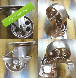 Steel 3 Copper Styled Casters Factory Metal Coffee Table Furniture Wheels