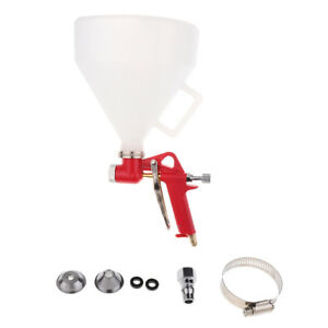 Hopper Spray Gun Paint Texture Tool Drywall Wall Painting Sprayer W 3 Nozzle